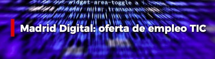 Oferta de empleo TIC Comunidad de Madrid Convocatoria 2020