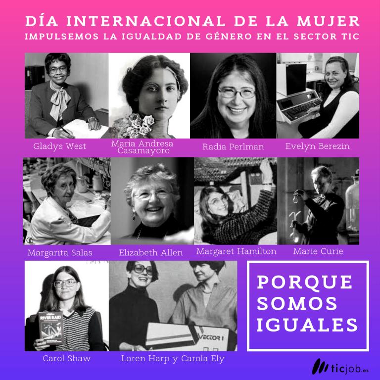 Dia de la mujer 8M . Mujeres STEM