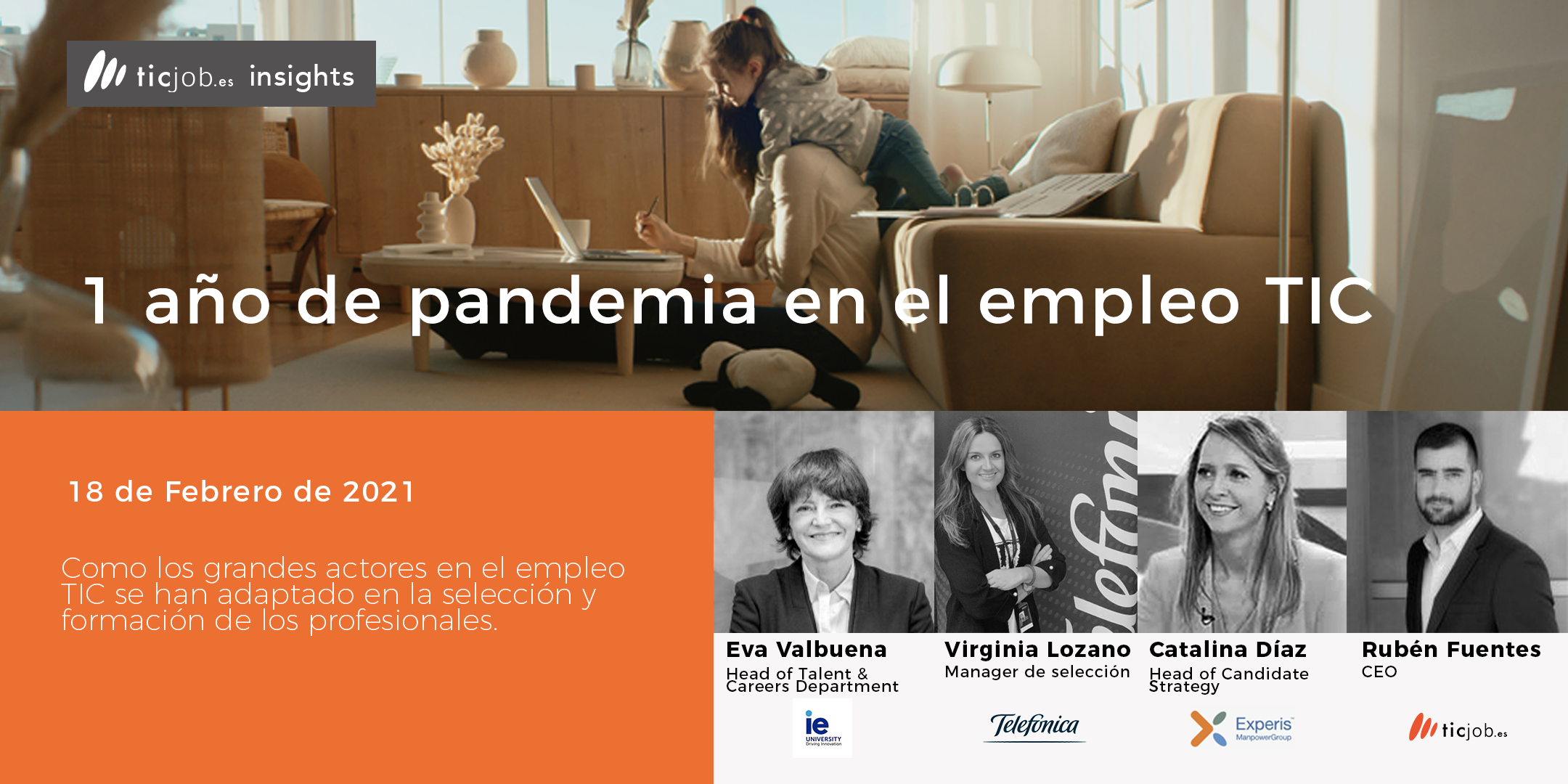 Videos eventos 1 año de pandemia en el empleo Tic