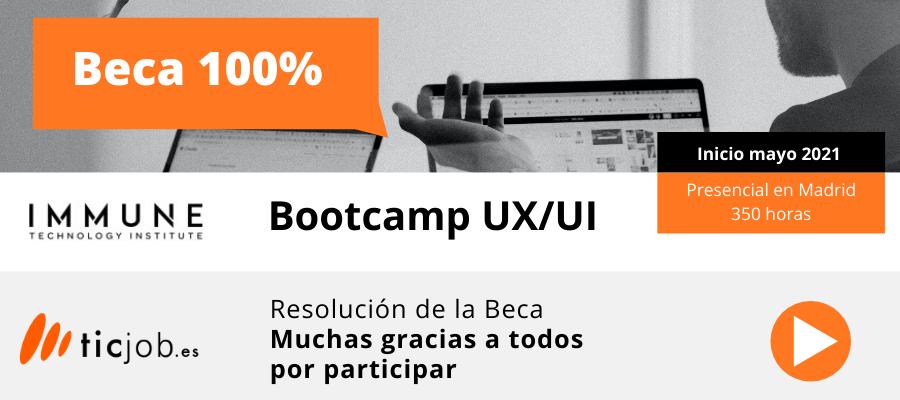 Resolución Beca 100% Bootcamp UX/UI
