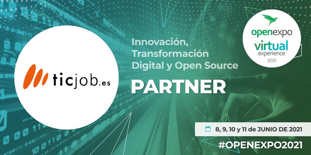 Ticjob partner de OpenExpo 2021.